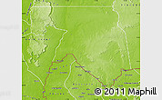 Physical Map of Kankossa