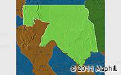 Political Map of Kankossa, darken