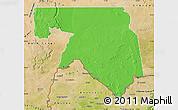 Political Map of Kankossa, satellite outside