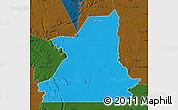 Political Map of Kiffa, darken