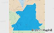 Political Map of Kiffa, lighten