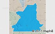 Political Map of Kiffa, lighten, semi-desaturated