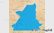 Political Map of Kiffa, satellite outside