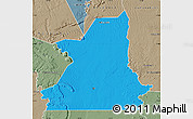Political Map of Kiffa, semi-desaturated