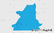Political Map of Kiffa, single color outside