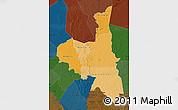 Political Shades Map of Assaba, darken