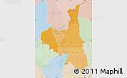 Political Shades Map of Assaba, lighten