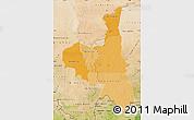 Political Shades Map of Assaba, satellite outside