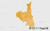 Political Shades Map of Assaba, single color outside