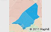 Political Shades Map of Brakna, lighten