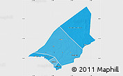 Political Shades Map of Brakna, single color outside