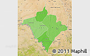 Political Shades Map of Gorgol, satellite outside