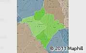Political Shades Map of Gorgol, semi-desaturated