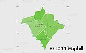 Political Shades Map of Gorgol, single color outside