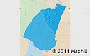 Political Shades Map of Guidimaka, lighten