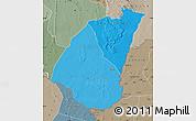 Political Shades Map of Guidimaka, semi-desaturated