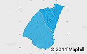 Political Shades Map of Guidimaka, single color outside