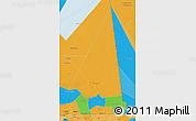 Political 3D Map of Hodh ech Chargui