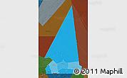 Political Shades 3D Map of Hodh ech Chargui, darken