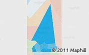 Political Shades 3D Map of Hodh ech Chargui, lighten