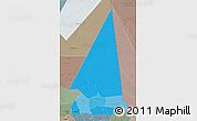 Political Shades 3D Map of Hodh ech Chargui, semi-desaturated