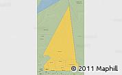 Savanna Style 3D Map of Hodh ech Chargui