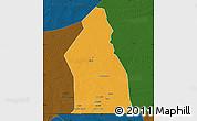 Political Map of Djigueni, darken