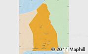 Political Map of Djigueni, lighten