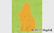 Political Map of Djigueni, physical outside