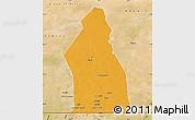 Political Map of Djigueni, satellite outside