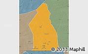 Political Map of Djigueni, semi-desaturated