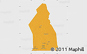 Political Map of Djigueni, single color outside