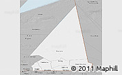 Gray Panoramic Map of Hodh ech Chargui