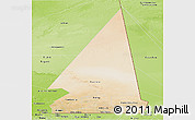 Satellite Panoramic Map of Hodh ech Chargui, physical outside