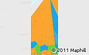 Political Simple Map of Hodh ech Chargui
