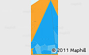 Political Shades Simple Map of Hodh ech Chargui, political outside