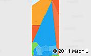 Political Shades Simple Map of Hodh ech Chargui