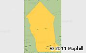 Savanna Style Simple Map of Timbedra