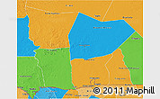 Political 3D Map of Hodh el Gharbi
