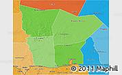 Political Shades 3D Map of Hodh el Gharbi
