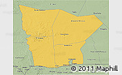 Savanna Style 3D Map of Hodh el Gharbi