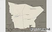 Shaded Relief 3D Map of Hodh el Gharbi, darken