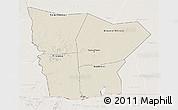 Shaded Relief 3D Map of Hodh el Gharbi, lighten