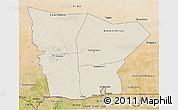 Shaded Relief 3D Map of Hodh el Gharbi, satellite outside