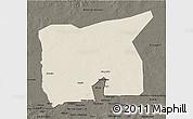 Shaded Relief 3D Map of Kobenni, darken