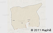 Shaded Relief 3D Map of Kobenni, lighten