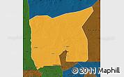 Political Map of Kobenni, darken