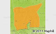 Political Map of Kobenni, physical outside