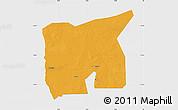 Political Map of Kobenni, single color outside