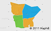 Political Map of Hodh el Gharbi, single color outside